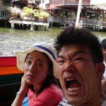 タイの水上マーケット!セクシーシーン。。