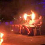 ピピ島の夜。ファイヤーショーを体験。【タイ】