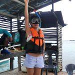 オランゴ島の海で沈みかけた嫁
